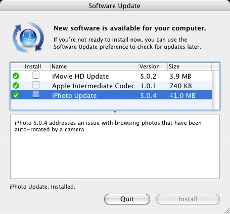 iPhoto Update - 41MB!