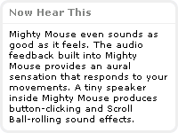 Mighty Mouse Internal Speaker?